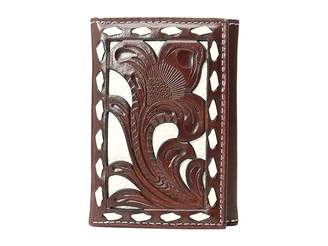 M&F Western Ivory Laced Trifold Wallet Wallet Handbags