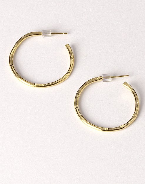 Small rose gold hoops