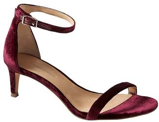Banana Republic Bare Kitten Heel Velvet Sandal