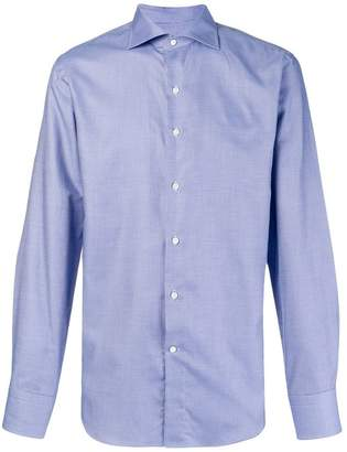 Canali spread collar classic shirt