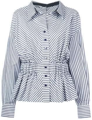 Silvia Tcherassi Striped Peplum Shirt