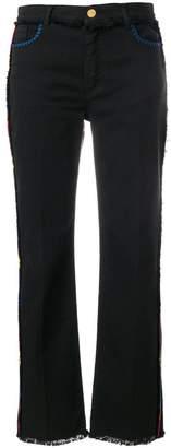 Etro side stripe frayed jeans