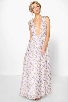 boohoo Anouk Floral Chiffon Wrap Maxi Dress $50 thestylecure.com