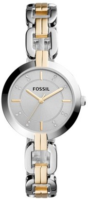 Fossil Kerrigan Three-Hand Two-Tone Stainless Steel Watch Jewelry