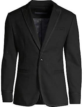 John Varvatos Men's Regular-Fit Cord Trim Peak Lapel Jacket