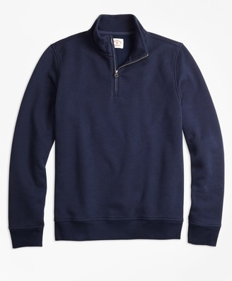 Brooks Brothers Half-Zip Pique-Fleece Sweatshirt
