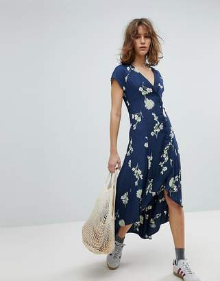 Free People Lost In You High Low Midi Dress
