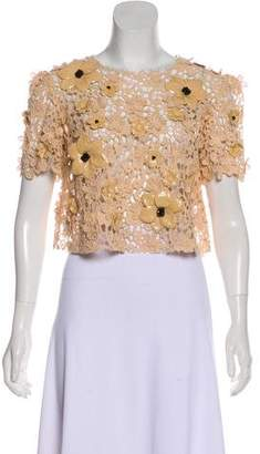 Dolce & Gabbana Embellished Guipure Lace Top
