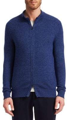 Loro Piana Bantiger Silk& Cashmere Zip-Up Sweater