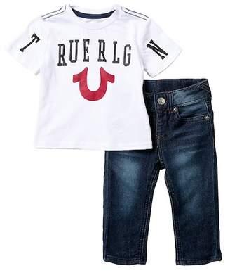 True Religion Smile Tee Set (Baby Boys)