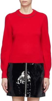 Rag & Bone 'Yorke' rib knit sleeve cashmere sweater