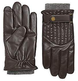 Polo Ralph Lauren Men's Quilted Wool-Lined Leather Racing Gloves