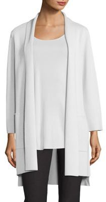 Eileen Fisher Silk & Organic Cotton Kimono Cardigan $418 thestylecure.com