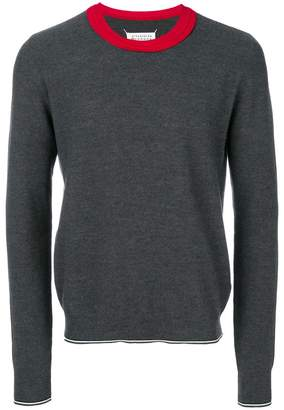 Maison Margiela contrast-collar sweater
