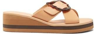Ancient Greek Sandals Thais Rainbow Leather Wedges - Womens - Tan