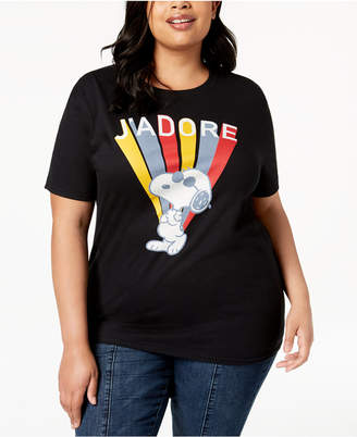 Love Tribe Plus Size Snoopy J'Adore T-Shirt
