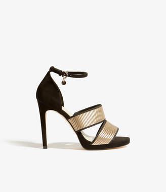 Karen Millen Gold Strap Sandals
