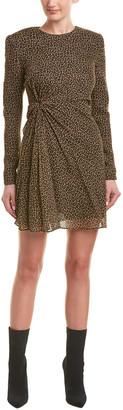 Saint Laurent Silk-Lined Wool Sheath Dress