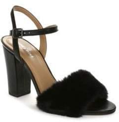 Luxury Rebel Magda Faux Fur Dress Sandals