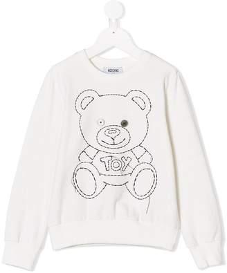 Moschino Kids TEEN stitch teddy sweatshirt