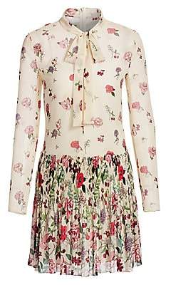 RED Valentino Women's Floral Tieneck Dress