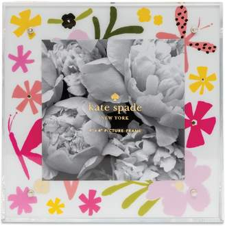 Kate Spade flowers & butterflies acrylic picture frame
