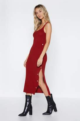 Nasty Gal Knit Right There Midi Dress