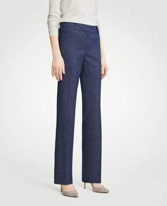 Ann Taylor The Tall Straight Leg Pant In Textured Stretch
