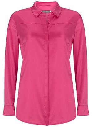 Mint Velvet Cerise Silk Satin Shirt