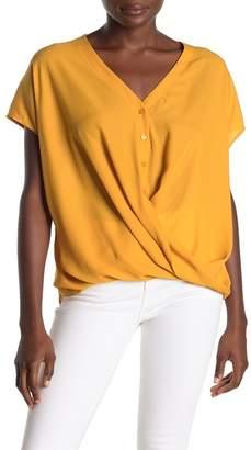 Lush Short Sleeve Gathered Blouse