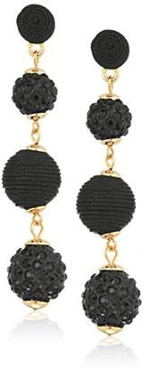 Panacea Blk Jet Crystal Linear Drop Earrings