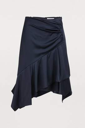 Peter Pilotto Satin asymmetric skirt