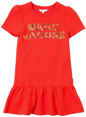 Little Marc Jacobs Embellished Logo Sweatshirt Dress
