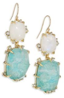 Alexis Bittar Elements Crystal Double-Drop Earrings $295 thestylecure.com
