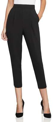 BCBGMAXAZRIA Pleated Tapered Cropped Pants