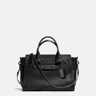 COACH Coach Swagger Carryall In Pebble Leather $550 thestylecure.com
