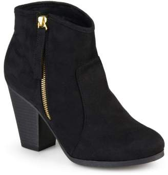 Brinley Co. Womens Wide Width Faux Suede High Heel Ankle Boots