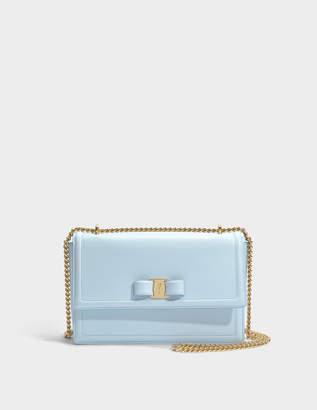 Salvatore Ferragamo Ginny Bag in Light Blue Calfskin