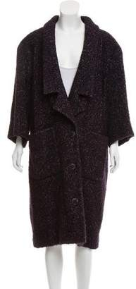 Chanel Alpaca-Blend Tweed Coat