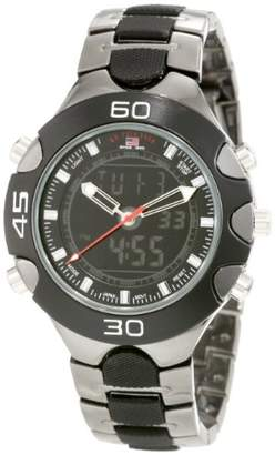 U.S. Polo Assn. Sport Men's US8083 Gun Metal/ Plastic Analog-Digital Sporty Bracelet Watch
