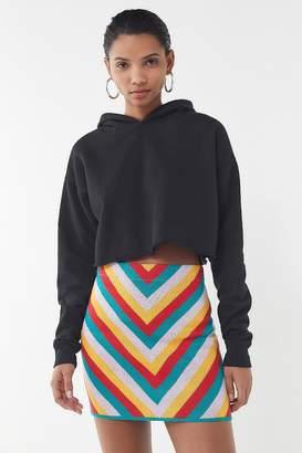 Urban Outfitters Chevron Knit Mini Skirt