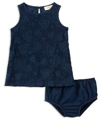 Kate Spade Girls' Heart-Crochet Dress & Bloomers Set - Baby
