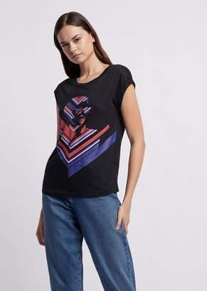 Emporio Armani Jersey T-Shirt With Pop Print
