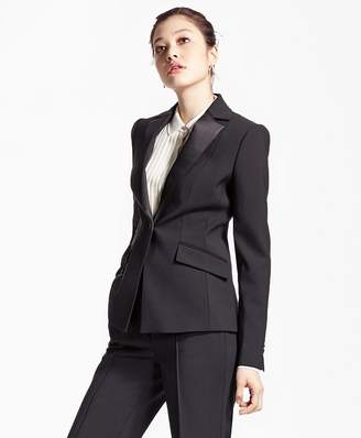 Single-Breasted Stretch Wool Tuxedo Jacket $798 thestylecure.com