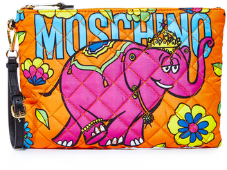 Moschino Printed Clutch $295 thestylecure.com
