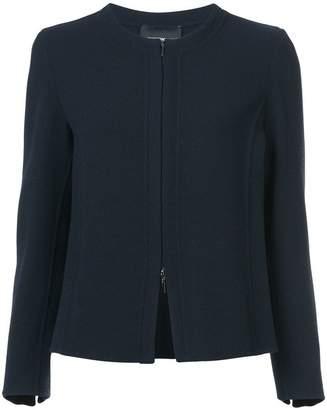 Emporio Armani box-pleat collarless jacket