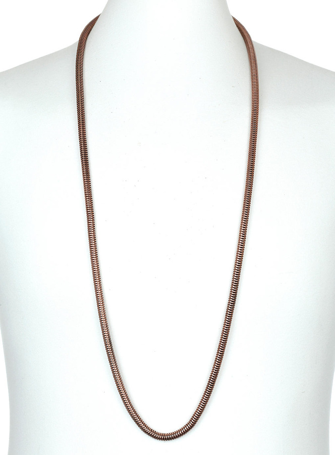 Topman Copper Snake Chain Necklace