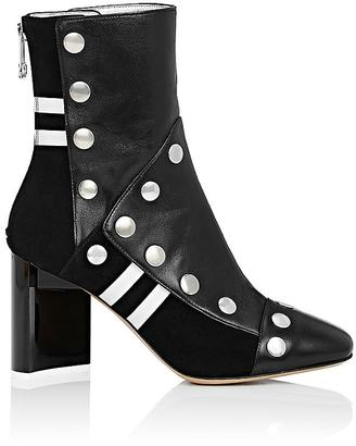 Maison Margiela Women's Leather Snap-Embellished Ankle Boots $1,590 thestylecure.com