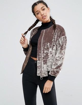 ASOS Velvet Bomber Jacket $83 thestylecure.com