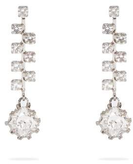 Colville - Crystal Drop Earrings - Womens - Silver